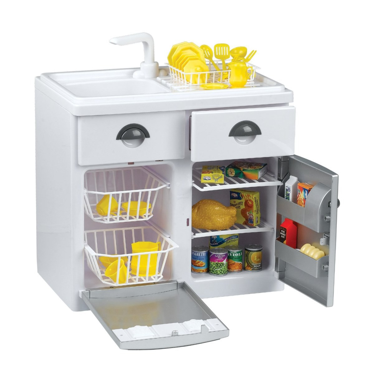 Игровой набор - Кухонная мебель с холодильникомДетские игровые кухни<br>Игровой набор - Кухонная мебель с холодильником<br>