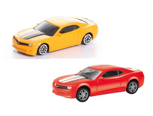 Машина металлическая RMZ City - Chevrolet Camaro, 1:64, цвет желтый/красныйChevrolet<br>Машина металлическая RMZ City - Chevrolet Camaro, 1:64, цвет желтый/красный<br>