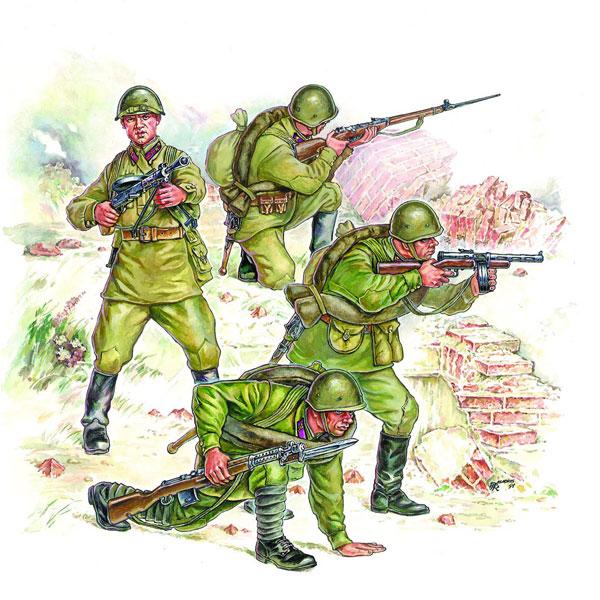 Сборная модель – Пехота Красной Армии №2Фигурки<br>Сборная модель – Пехота Красной Армии №2<br>