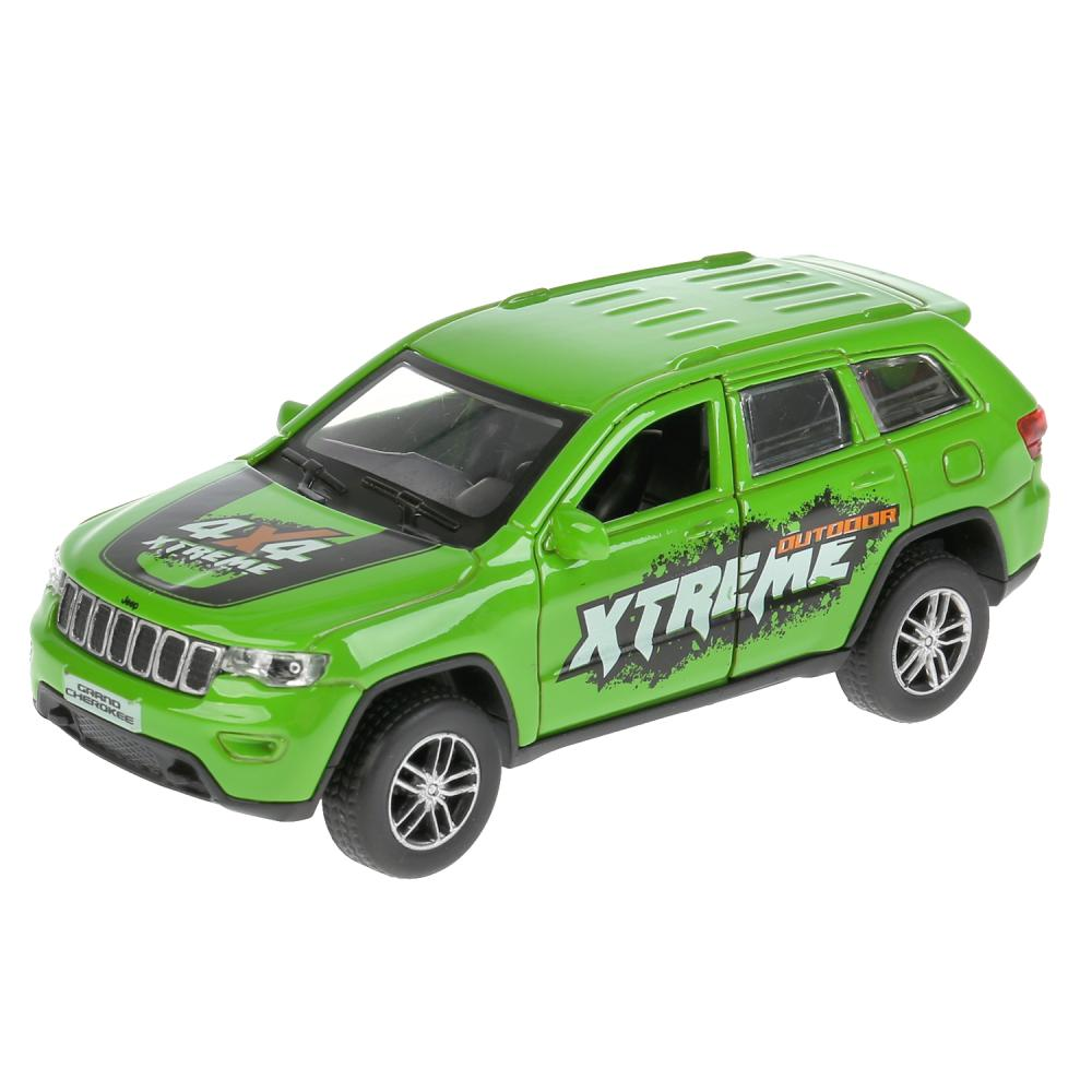 Купить Машина металлическая Jeep Grand Cherokee спорт, свет и звук, инерционная, цвет – зеленый, 12 см, Технопарк