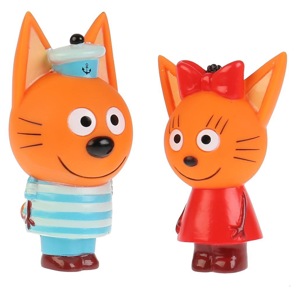 Купить Набор из 2 игрушек для ванны Капитошка - Три Кота. Карамелька и Коржик, Играем вместе