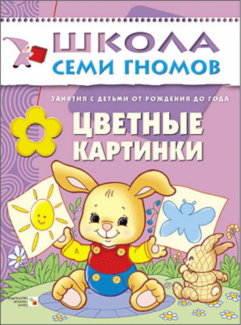 Книга Школа Семи Гномов - Первый год обучения. Цветные картинкиРазвивающие пособия и умные карточки<br>Книга Школа Семи Гномов - Первый год обучения. Цветные картинки<br>