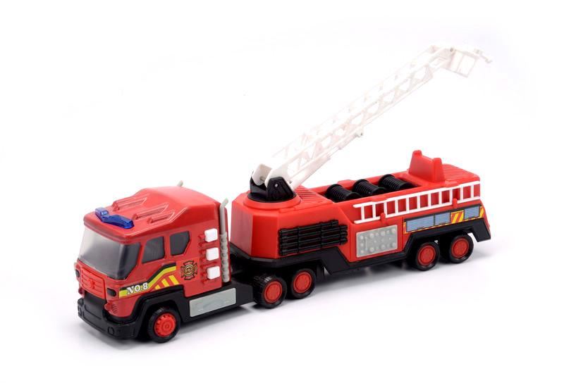 Пожарная машина со световыми и звуковыми эффектами, 28 см.Пожарная техника, машины<br>Пожарная машина со световыми и звуковыми эффектами, 28 см.<br>