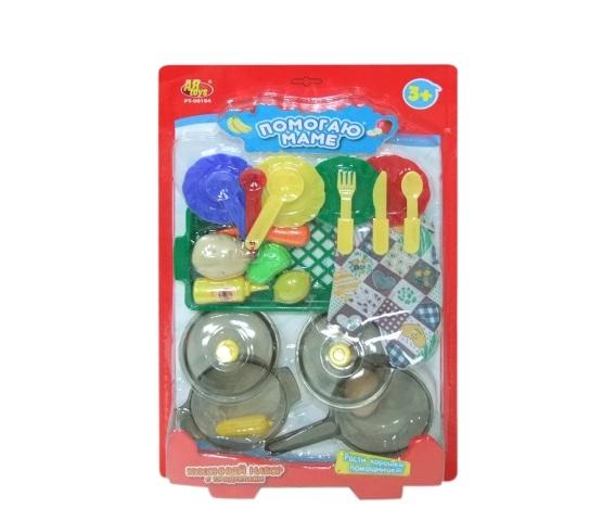 Набор игровой кухонный с продуктами серии Помогаю МамеАксессуары и техника для детской кухни<br>Набор игровой кухонный с продуктами серии Помогаю Маме<br>