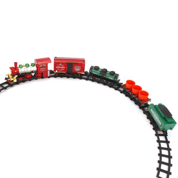 Железная дорога на батарейках, с дымом, свет и звукДетская железная дорога<br>Железная дорога на батарейках, с дымом, свет и звук<br>