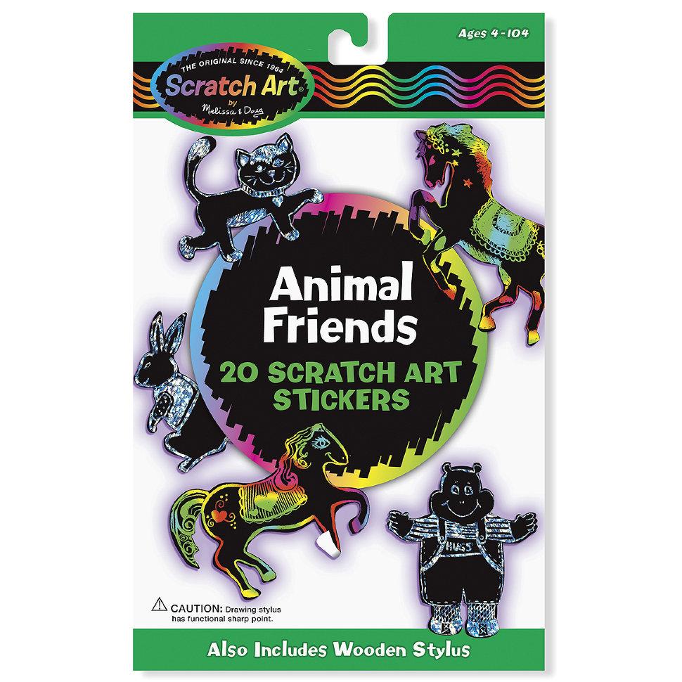 Набор стикеров «Scratch Art. Животные»Наклейки<br>Набор стикеров «Scratch Art. Животные»<br>