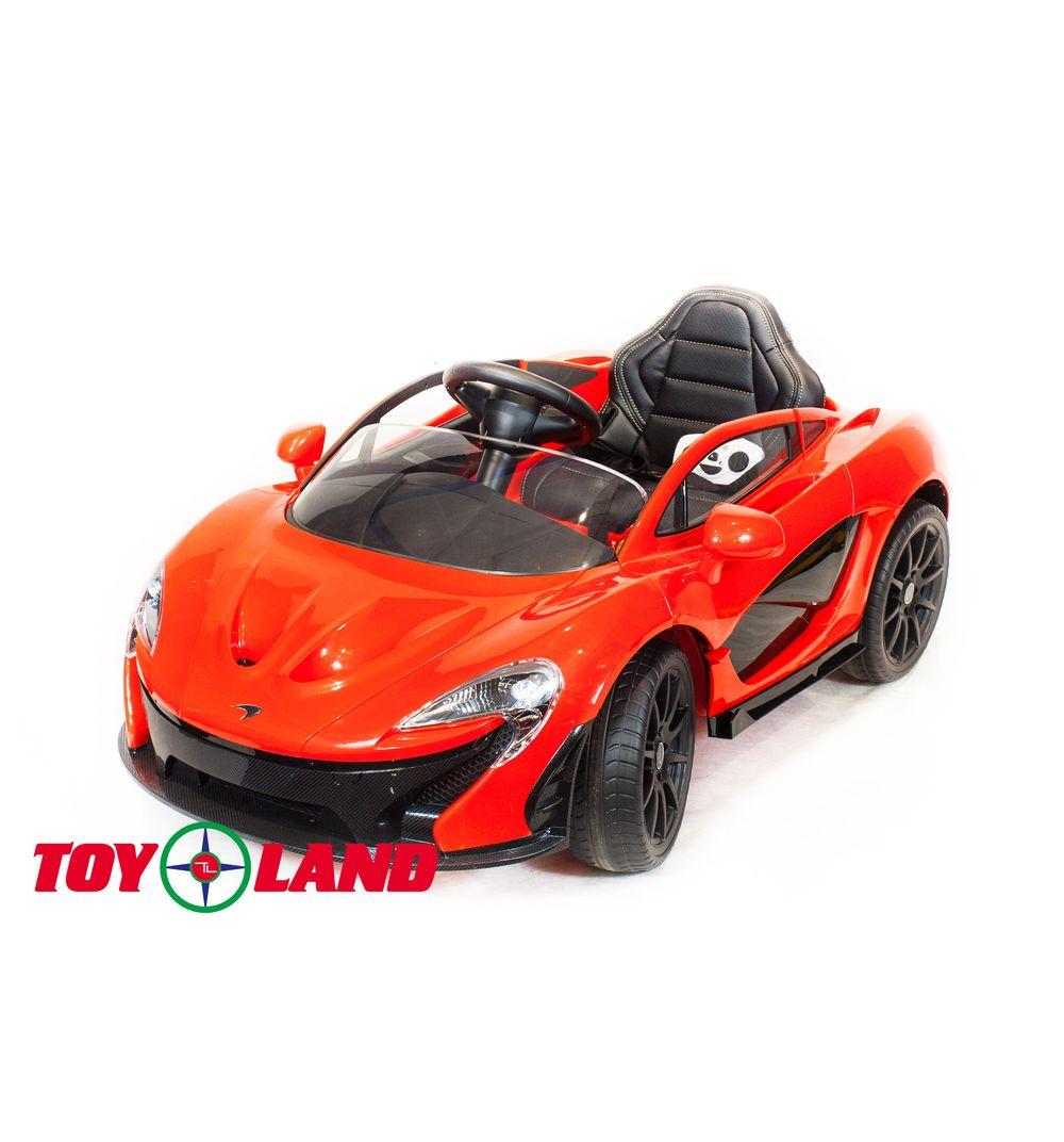 Электромобиль McLaren красного цвета