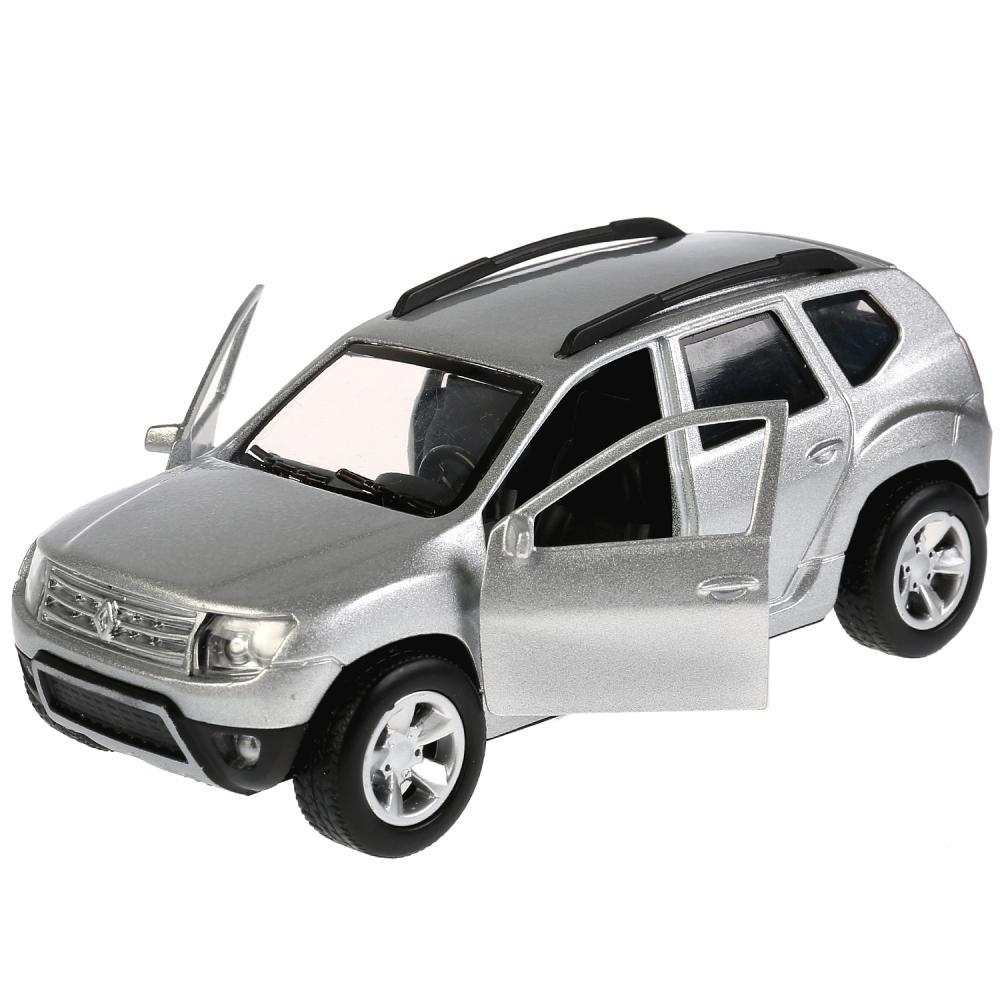 Купить Металлическая инерционная модель Renault Duster, 12 см, цвет серебристый открываются двери, Технопарк