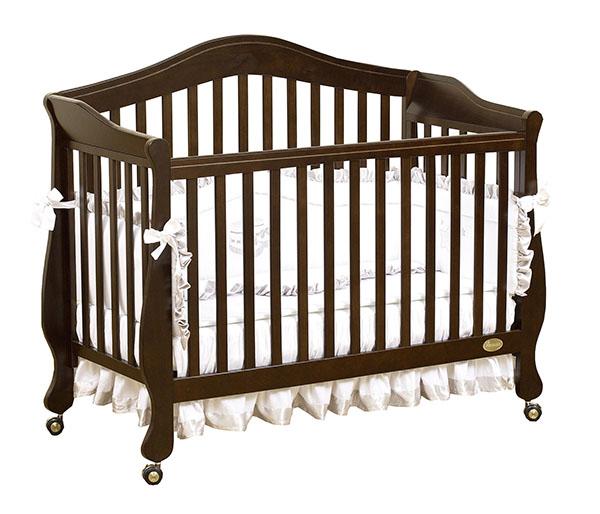 Кроватка для новорожденных Belcanto Lux, цвет ChocoloДетские кровати и мягкая мебель<br>Кроватка для новорожденных Belcanto Lux, цвет Chocolo<br>