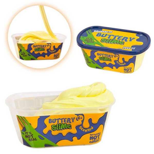 Слайм - жвачка для рук - Buttery Slime - Сливочное масло, цвет бледно-желтый