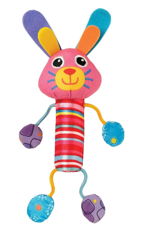 Погремушка - Звонкий зайкаДетские погремушки и подвесные игрушки на кроватку<br>Погремушка - Звонкий зайка<br>