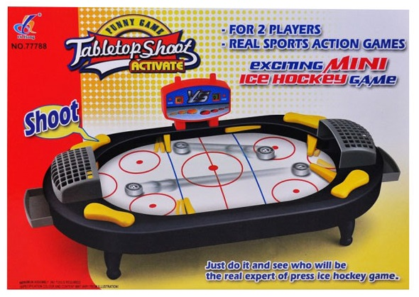 Multi-game table top for mini air hockey and pingpong, view multi