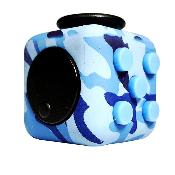 Игрушка антистресс - Fidget Cube, камуфляж, синийАнтистресс кубики Fidget Cube<br>Игрушка антистресс - Fidget Cube, камуфляж, синий<br>