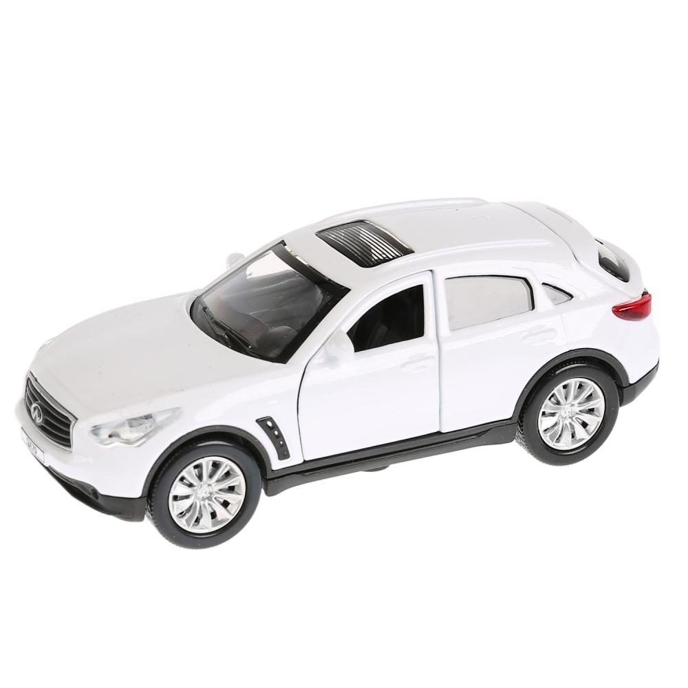 Купить Инерционная металлическая машина Infiniti Qx70, белый, 12 см, свет-звук, Технопарк