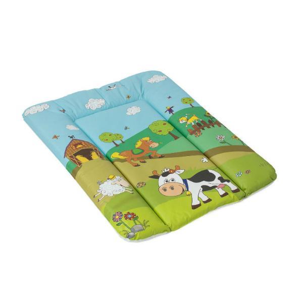 Пеленальный матрац с мягким основанием Весёлая Ферма, зелёный, 50х70 смГигиена малыша<br>Пеленальный матрац с мягким основанием Весёлая Ферма, зелёный, 50х70 см<br>