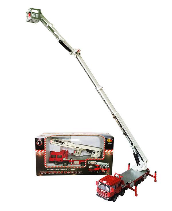 Купить Металлическая машина – Спецтехника - Пожарная машина, 1:50, ABtoys