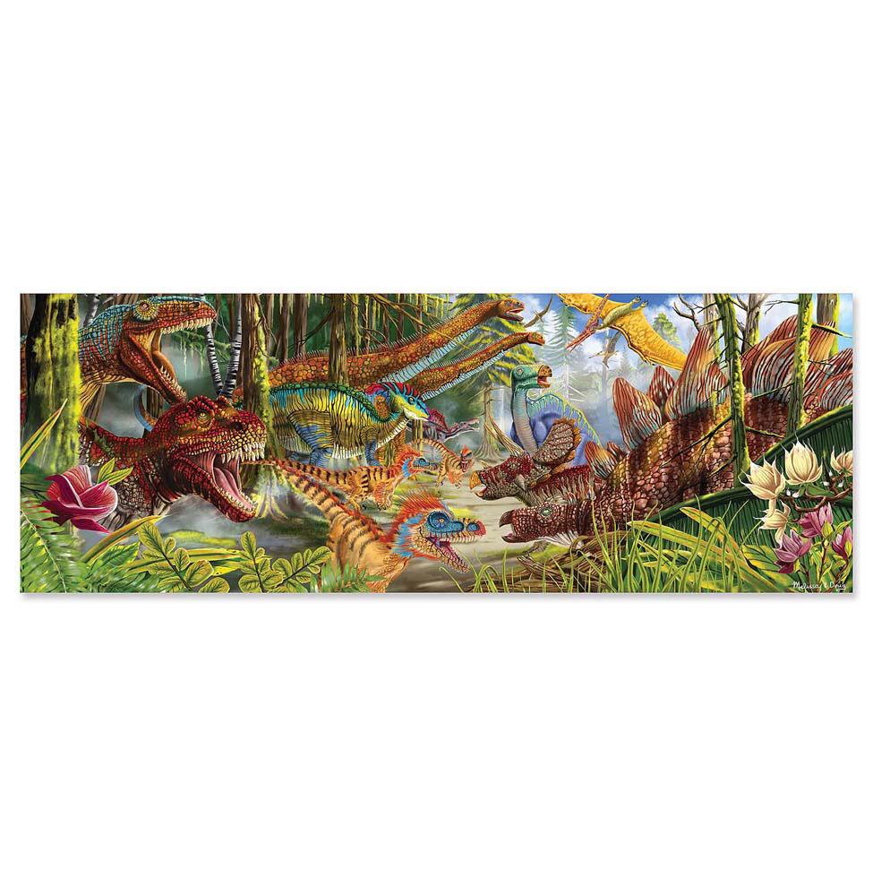 Купить Напольный пазл - Мир динозавров, 200 элементов, Melissa&Doug