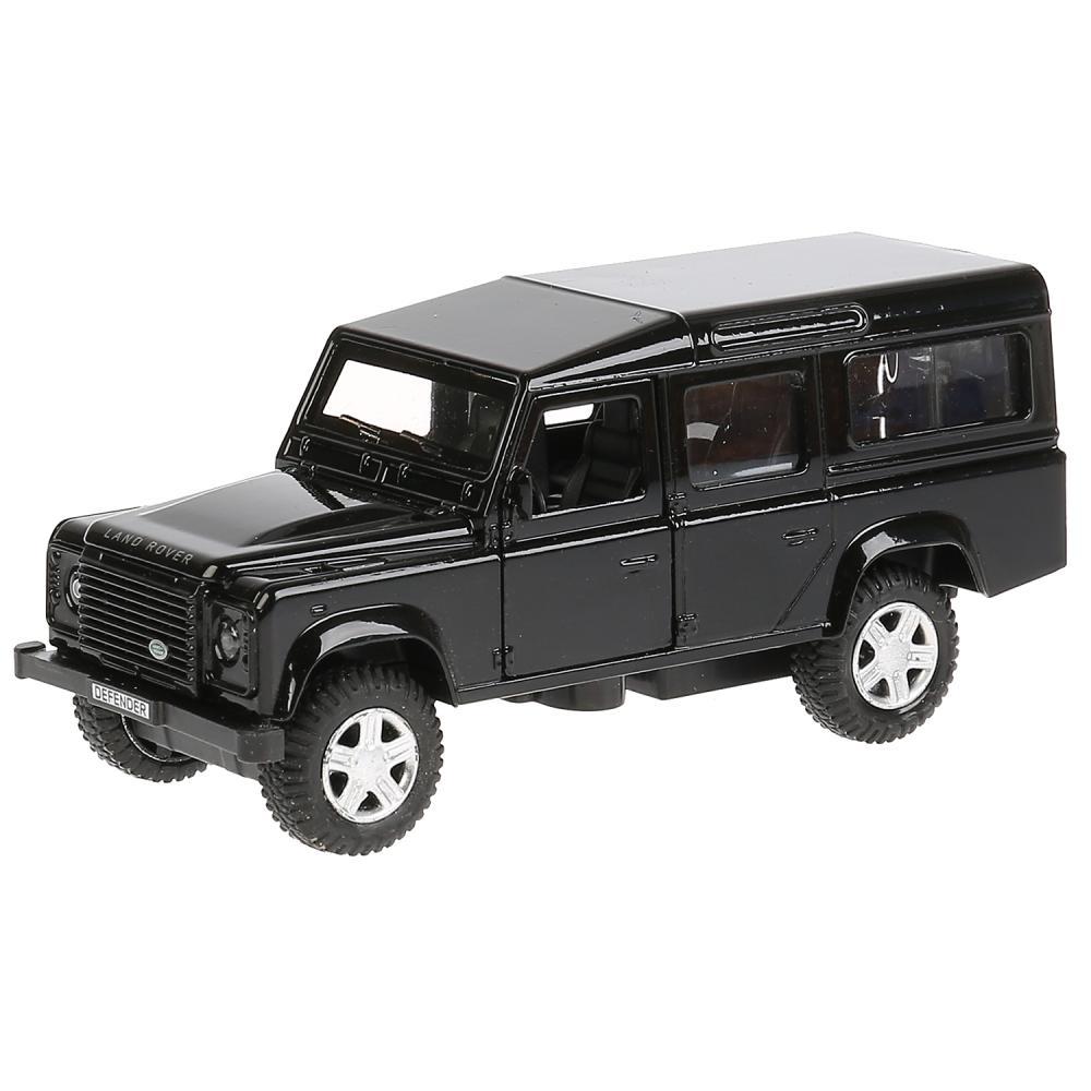 Машина металлическая Land Rover Defender, 12 см, открываются двери, инерционная, черная, Технопарк  - купить со скидкой