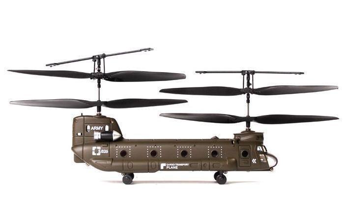 Игрушечный радиоуправляемый вертолёт ChinookРадиоуправляемые вертолеты<br>Игрушечный радиоуправляемый вертолёт Chinook<br>