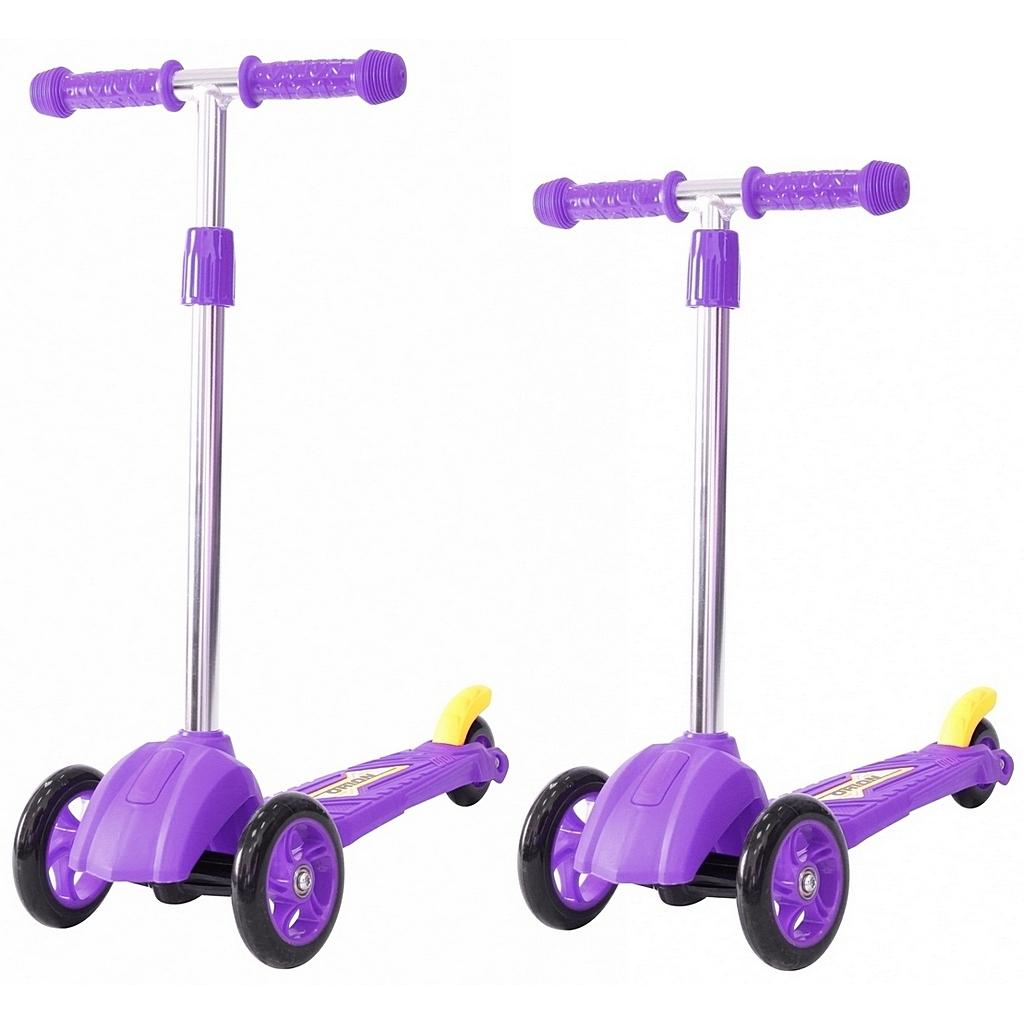 Детский трехколесный самокат фиолетового цвета RT ORION MINI 164в2Трехколесные самокаты<br>Детский трехколесный самокат фиолетового цвета RT ORION MINI 164в2<br>