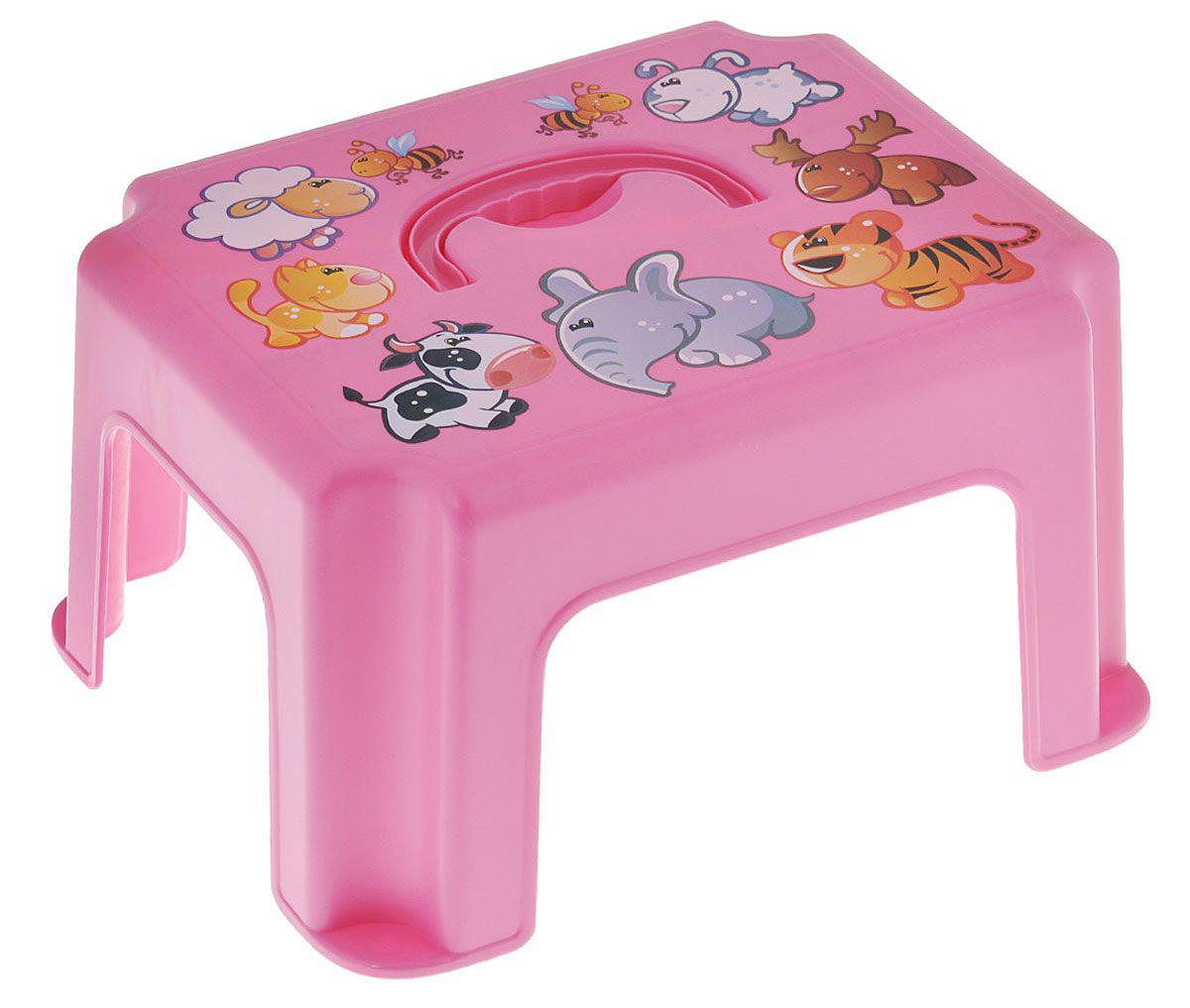 Табурет-подставка, розовыйгоршки, подставки<br>Табурет-подставка, розовый<br>