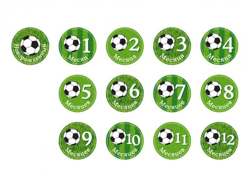 Набор стикеров для мальчиков Stickn Click - ФутболНаклейки<br>Набор стикеров для мальчиков Stickn Click - Футбол<br>