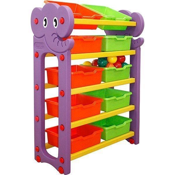 Купить Стеллаж для хранения игрушек, 5 секций, Happy Box