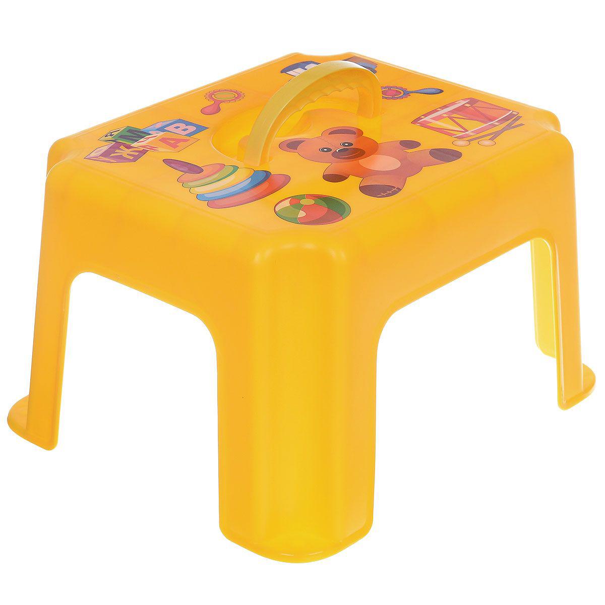 Табурет-подставка, жёлтый