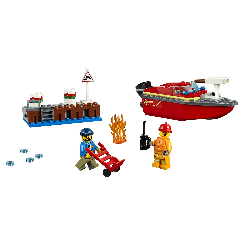 Конструктор из серии Lego City Fire - Пожар в порту фото