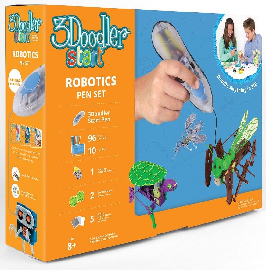3Д Ручка 3doodler Start, подарочный набор Роботы3D ручки<br>3Д Ручка 3doodler Start, подарочный набор Роботы<br>