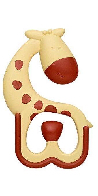 Прорезыватель Ridgees массирующий, жирафикДетские погремушки и подвесные игрушки на кроватку<br>Прорезыватель Ridgees массирующий, жирафик<br>