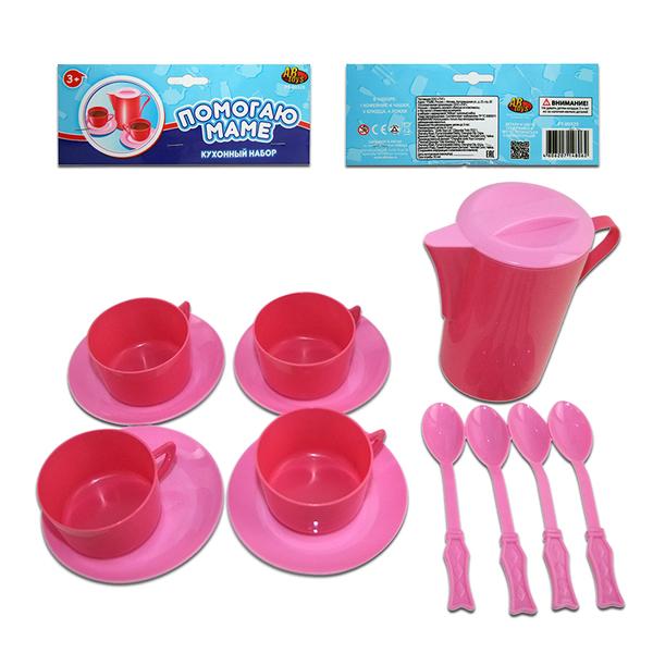 Помогаю Маме. Набор посуды для кухни, 13 предметовАксессуары и техника для детской кухни<br>Помогаю Маме. Набор посуды для кухни, 13 предметов<br>