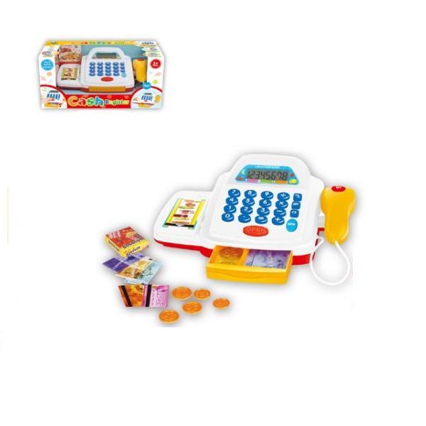 Кассовый аппарат со светом и звуком, аксессуарами - Детская игрушка Касса. Магазин. Супермаркет, артикул: 159594