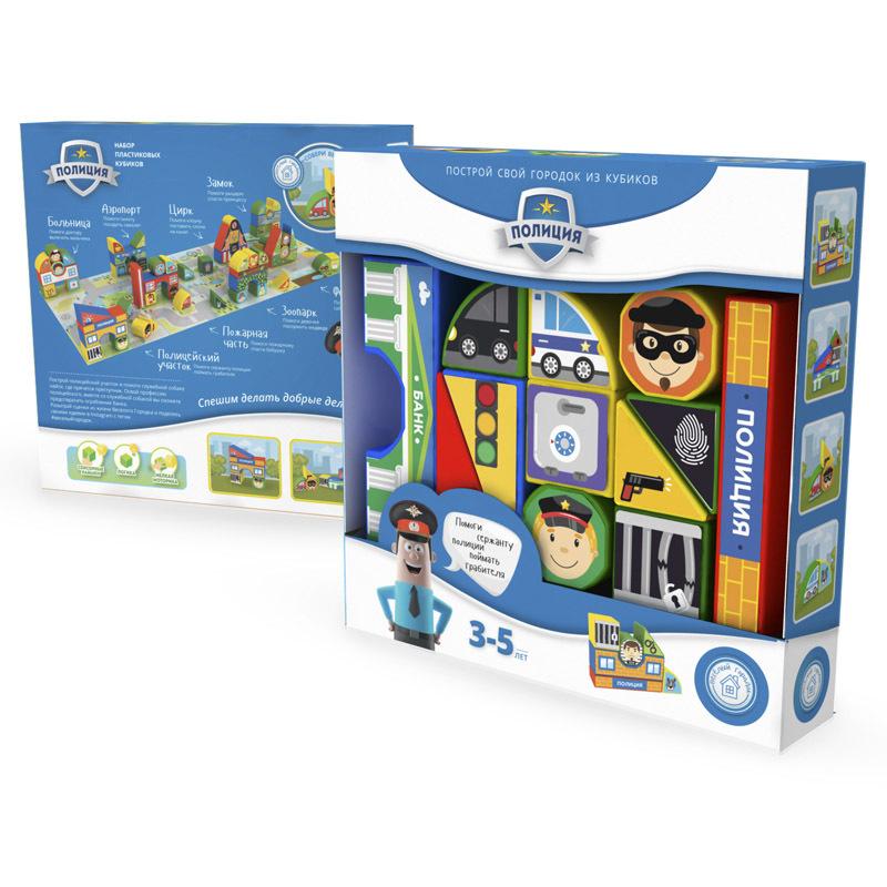 Купить Пластиковые кубики MAGNETICUS Полиция
