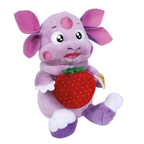 Озвученная мягкая игрушка – Лунтик с клубничкой, 16 смГоворящие игрушки<br>Озвученная мягкая игрушка – Лунтик с клубничкой, 16 см<br>