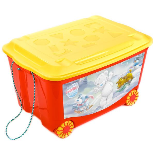 Ящик для игрушек на колесах с аппликацией Me To You, цвет красный