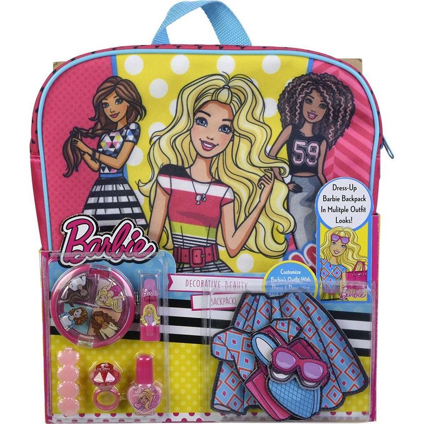 Игровой набор детской декоративной косметики - Barbie с рюкзакомЮная модница, салон красоты<br>Игровой набор детской декоративной косметики - Barbie с рюкзаком<br>