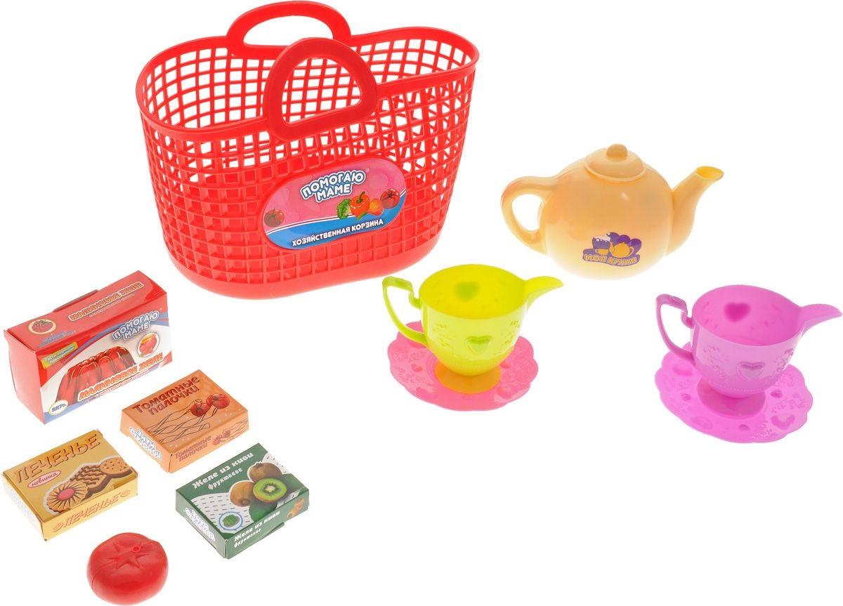 Набор посуды для кухни в корзине, 10 предметовАксессуары и техника для детской кухни<br>Набор посуды для кухни в корзине, 10 предметов<br>
