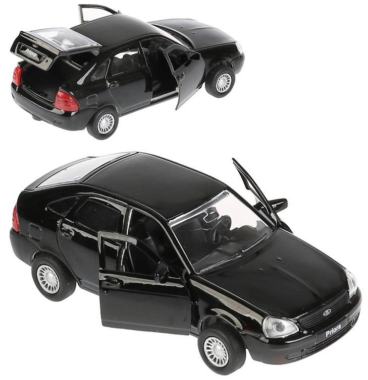 Купить со скидкой Металлическая модель Технопарк Lada Priora хэтчбек, черная, 12 см, открываются двери, инерционная