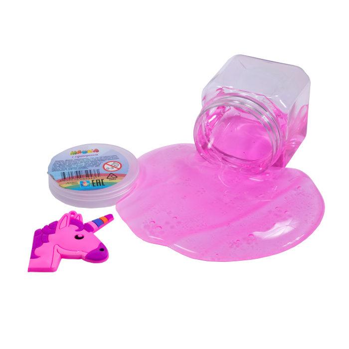 Жвачка для рук Мяшка - Мелкие пакости, с плоской игрушкой-единорог