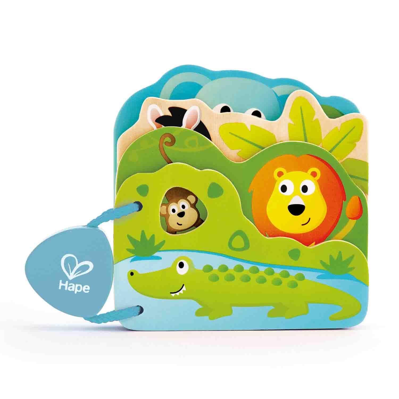 Детская книга - Дикие животные, Hape  - купить со скидкой