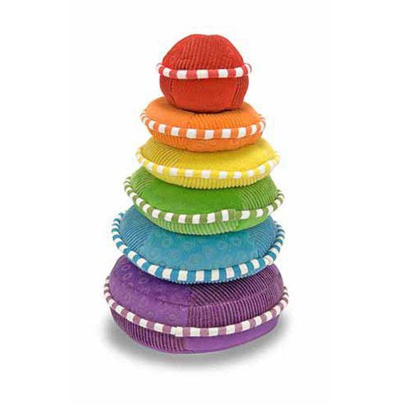 Мягкая игрушка-пирамидка РадугаСортеры, пирамидки<br>Мягкая игрушка-пирамидка Радуга<br>