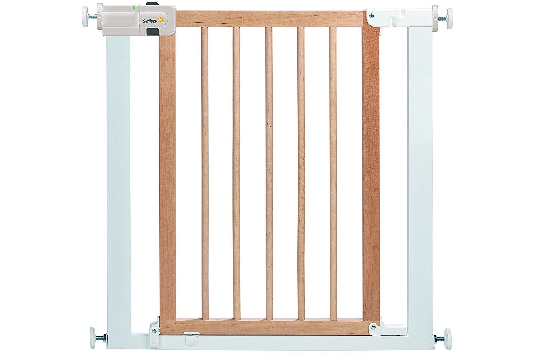 Ворота безопасности Easy Close Wood & Metal, белый/натуральное дерево - Безопасность ребенка, артикул: 166609