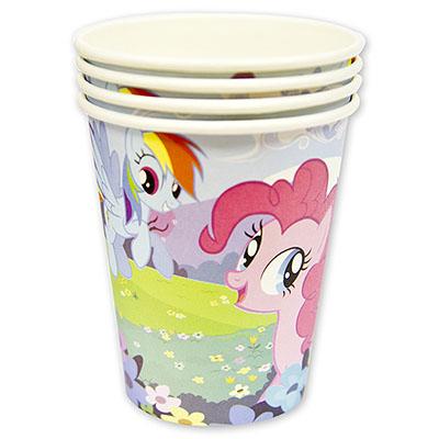 Стакан бумажный, Мой маленький пони, 8 штук, 250 млМоя маленькая пони (My Little Pony)<br>Стакан бумажный, Мой маленький пони, 8 штук, 250 мл<br>