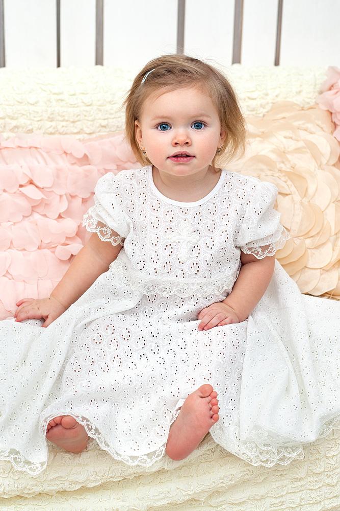 Крестильный набор для девочки – Ольга, 2 предмета, 6-12 месяцев