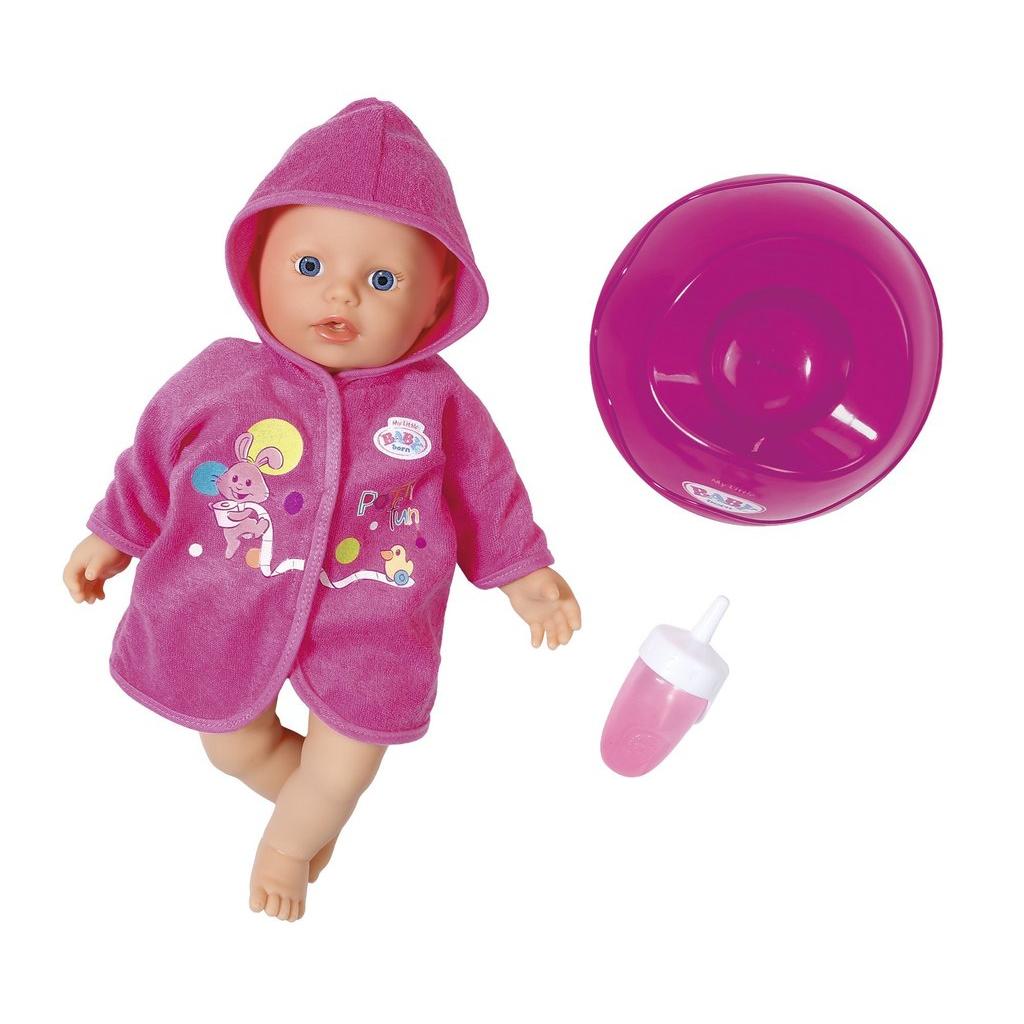 Кукла My Little Baby Born, быстросохнущая с горшком и бутылочкой, 32 см от Toyway