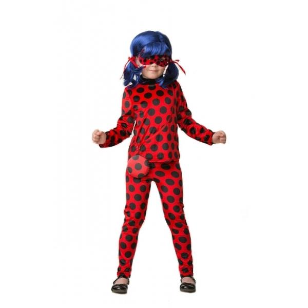 Купить Карнавальный костюм для девочек – Леди Баг, блуза и брюки, размер 128-64, Батик