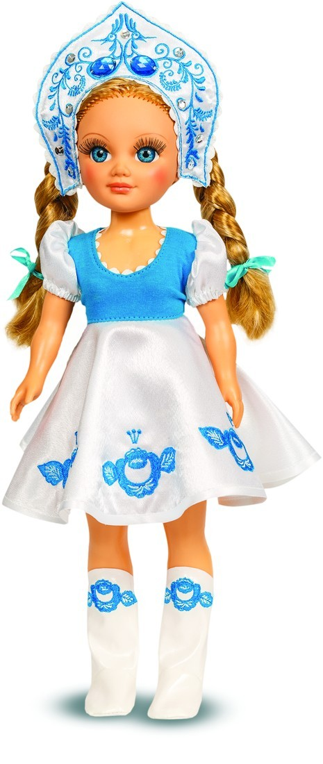 Кукла Анастасия Гжельская Красавица, озвученная, 42 см.Русские куклы фабрики Весна<br>Кукла Анастасия Гжельская Красавица, озвученная, 42 см.<br>