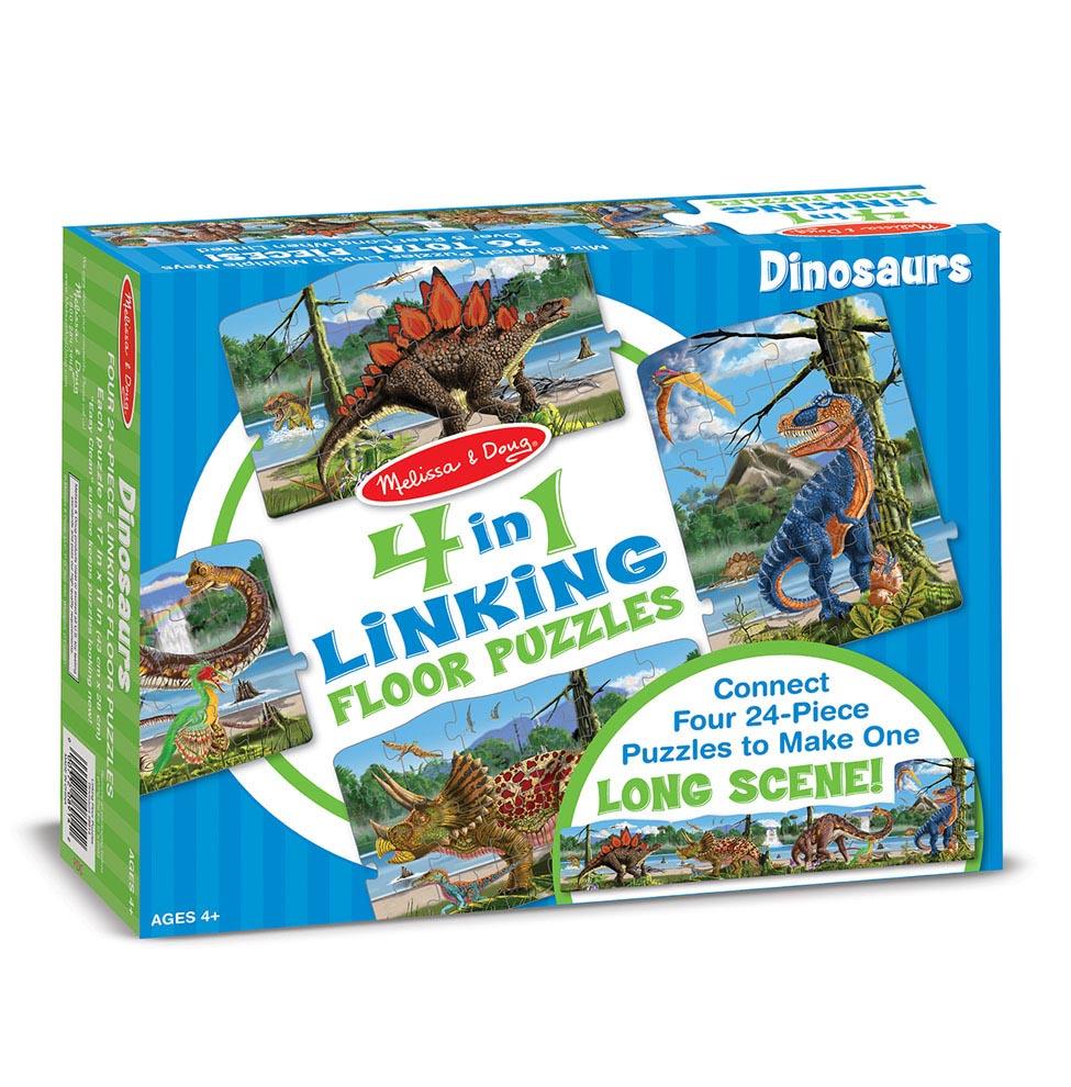 Большой напольный пазл – ДинозаврыКоврики-пазлы<br>Большой напольный пазл – Динозавры<br>