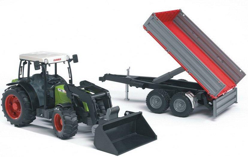 Купить Трактор Bruder Claas Nectis 267 F с погрузчиком и прицепом
